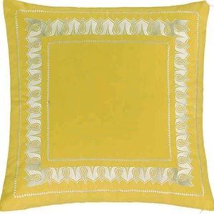 ECHO DESIGN yellow & white pillow sham